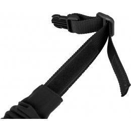 WoSport Reinforced Nylon Dog Collar w/ EVA Handle - BLACK