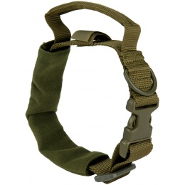 WoSport Reinforced Nylon Dog Collar w/ EVA Handle - OLIVE DRAB