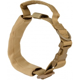 WoSport Reinforced Nylon Dog Collar w/ EVA Handle - TAN