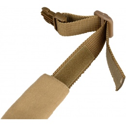 WoSport Reinforced Nylon Dog Collar w/ EVA Handle - TAN