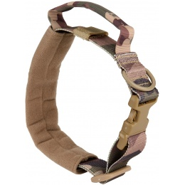WoSport Reinforced Nylon Dog Collar w/ EVA Handle - CAMO