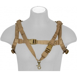WoSport 1000D Nylon Tactical One-Point Sling Vest - TAN