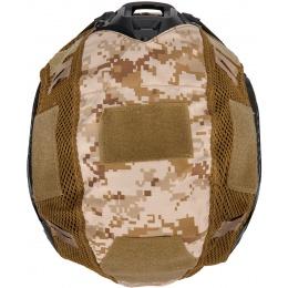 WoSport 1000D Nylon Polyester Bump Helmet Cover - DESERT DIGITAL