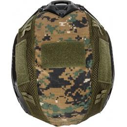 WoSport 1000D Nylon Polyester Bump Helmet Cover - WOODLAND DIGITAL