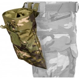 Lancer Tactical Large Polyester Foldable Dump Pouch - CAMO TROPIC