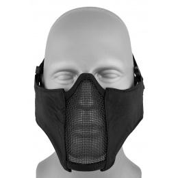 AMA Nylon PDW Mesh Mercenary Airsoft Half Mask - BLACK
