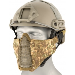 AMA Nylon PDW Mesh Mercenary Airsoft Half Mask - PC BADLANDS