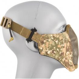 AMA Nylon PDW Mesh Mercenary Airsoft Half Mask - PC BADLANDS