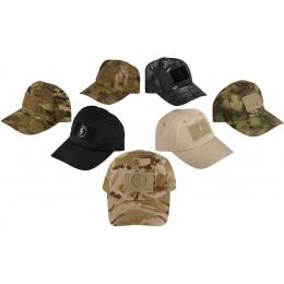 Lancer Tactical Scout Adhesion Morale Cap w/ Strapback - LIGHT TAN