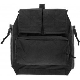 TMC Zipper Back Panel Attachment Pouch - BLACK