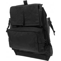 TMC Zipper Back Panel Attachment Pouch - BLACK