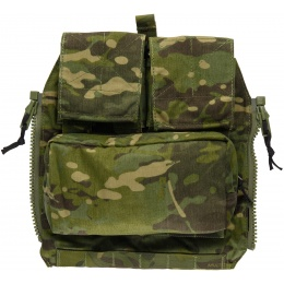 TMC Zipper Back Panel Attachment Pouch - CAMO TROPIC