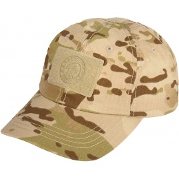 Lancer Tactical Scout Adhesion Morale Cap w/ Strapback - CAMO DESERT