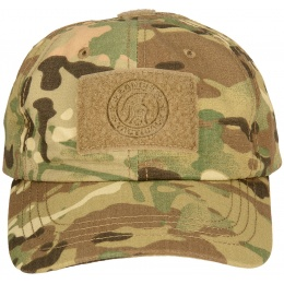 Lancer Tactical Scout Adhesion Morale Cap w/ Strapback - CAMO