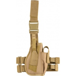 Lancer Tactical Airsoft Nylon Drop Leg Holster - KHAKI