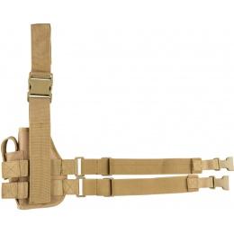 Lancer Tactical Airsoft Nylon Drop Leg Holster - KHAKI