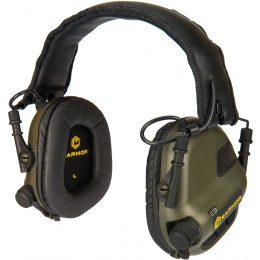 Earmor M31 Electronic Hearing Headphones w/ NATO Input  - FOLIAGE GREEN