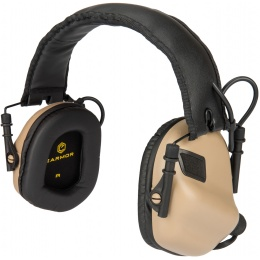 Earmor M31 Electronic Hearing Headphones w/ NATO Input  - DARK EARTH