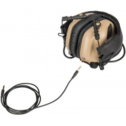 Earmor M31 Electronic Hearing Headphones w/ NATO Input  - DARK EARTH