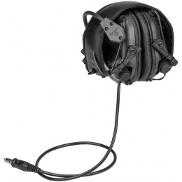 Earmor M32 Electronic Tactical Earmuffs w/ NATO Input  - BLACK