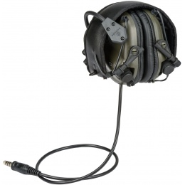 Earmor M32 Electronic Tactical Earmuffs w/ NATO Input  - FOLIAGE GREEN