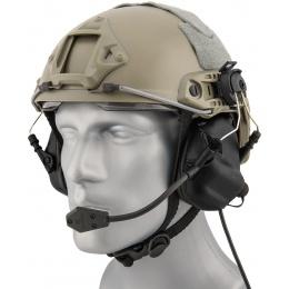 Earmor M32H Tactical Earmuffs for FAST MT Helmets - BLACK
