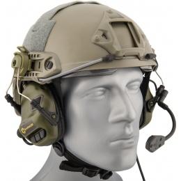 Earmor M32H Tactical Earmuffs for FAST MT Helmets - FOLIAGE GREEN