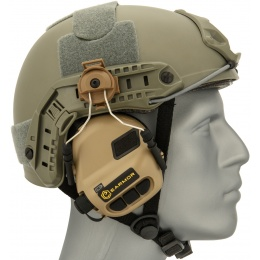 Earmor Tactical Noise Reduction Headset For Fast MT Helmets  - DARK EARTH
