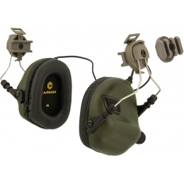 Earmor M31H Tactical Earmuffs for FAST MT Helmets - FOLIAGE GREEN