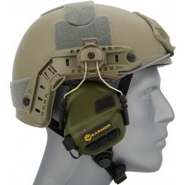 Earmor M31H Tactical Earmuffs for FAST MT Helmets - FOLIAGE GREEN