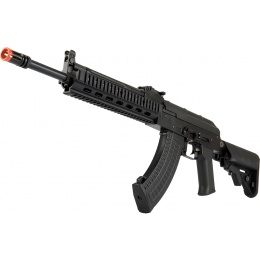 LCT Airsoft Stamped Steel TX-MIG AEG Rifle w/ Crane Stock - BLACK