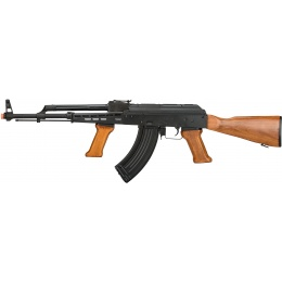 LCT Full Metal LCKM-63 AEG Rifle w/ Foregrip - BLACK/WOOD