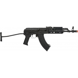 LCT Stamped Steel TX-65 Tactical AK Series AEG Airsoft Rifle - BLACK