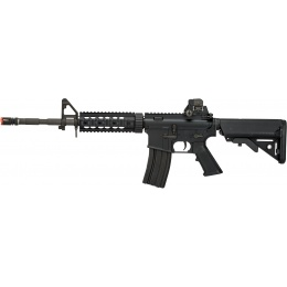 LCT Airsoft Full Steel M4 AEG Airsoft Rifle w/ Quad Rail - BLACK