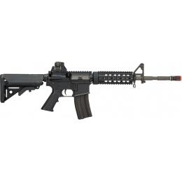 LCT Airsoft Full Steel M4 AEG Airsoft Rifle w/ Quad Rail - BLACK