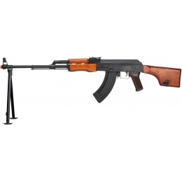 LCT Steel RPK AEG Airsoft Light Machine Gun w/ Bipod - BLACK/WOOD