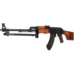 LCT Steel RPK AEG Airsoft Light Machine Gun w/ Bipod - BLACK/WOOD