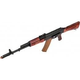 LCT Full Steel AK74 Airsoft AEG Assault Rifle - BLACK/WOOD