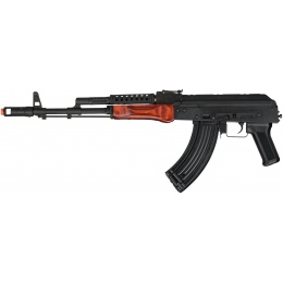 LCT G-03 NV Steel Airsoft AEG Rifle w/ Folding Stock - BLACK/WOOD
