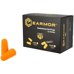 Earmor Max Defense Ear Plugs (Uncorded) NRR36 - YELLOW