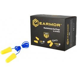 Earmor Max Defense Ear Plugs (Corded) NRR36 - YELLOW PLUGS