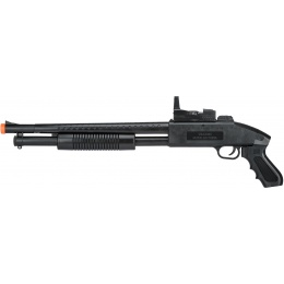 UK Arms Airsoft M590 Spring Shotgun w/ Flashlight - BLACK