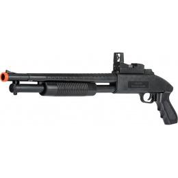 UK Arms Airsoft M590 Spring Shotgun w/ Flashlight - BLACK