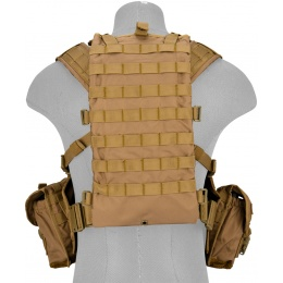 Lancer Tactical Airsoft M4 MOLLE Modular Chest Rig (Nylon) - KHAKI