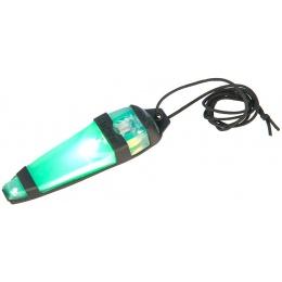 Lancer Tactical Adhesive BLACK Helmet Light Indicator - GREEN LIGHT