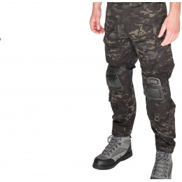 AMA BDU Trousers w/ Kneepads - CAMO BLACK