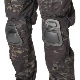 AMA BDU Trousers w/ Kneepads - CAMO BLACK