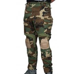 AMA BDU Combat Pants w/ Kneepads - WOODLAND