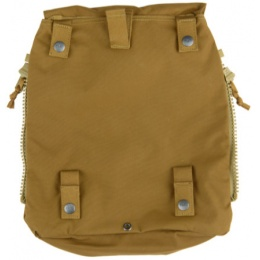 AMA Zipper Back Panel Attachment Backpack - COYOTE BROWN