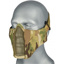AMA Nylon PDW Mesh Mercenary Airsoft Half Mask - CAMO